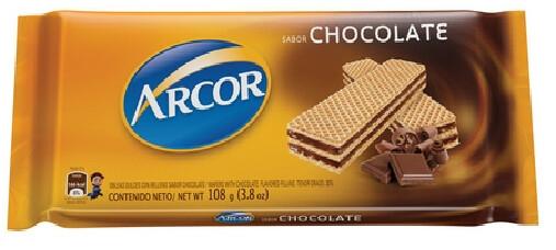 Galleta Arcor Sabor Chocolate 108 Gramos