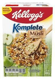 Kelloggs Cereal Komplete Pasas y Manzanas 460 Gramos