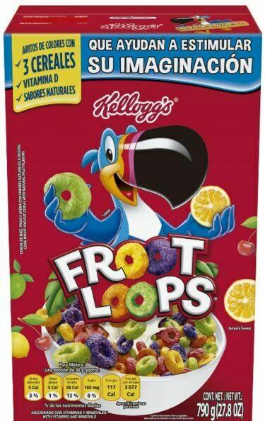 Kelloggs Cereal Froot Loops 790 G. / 27.8 onz