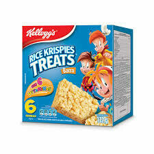 Kelloggs Barra de Cereal Rice Krispies Treats Original 132 Gramos