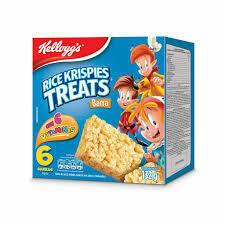 Kelloggs Barra de Cereal Rice Krispies Treats Original 132 Gramos