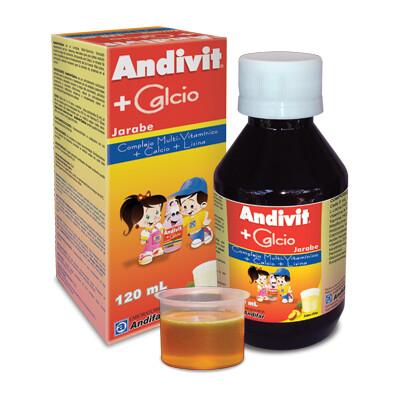 Andivit + Calcio Jarabe 120 ML