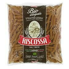 Riscossa Penne Rigate Bio Integral 500 Gramos