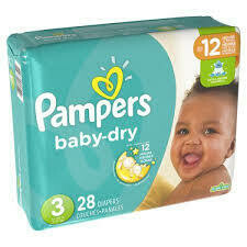 Pañales Pampers Baby Dry Talla 3 (16-28lb) 28 Unidades