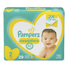 Pañales Pampers Swaddlers Talla S2 29 Unidades