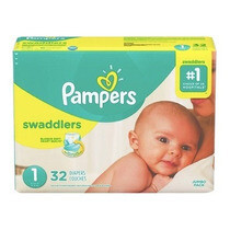 Pañales Pampers Swaddlers Talla S1 32 Unidades