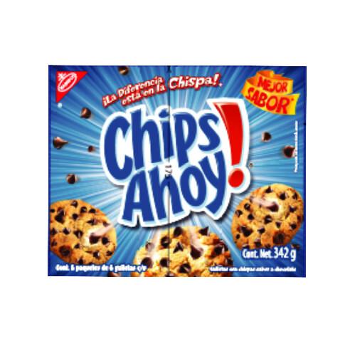 Galletas Chips Ahoy Regular 6 unidades 342 Gramos