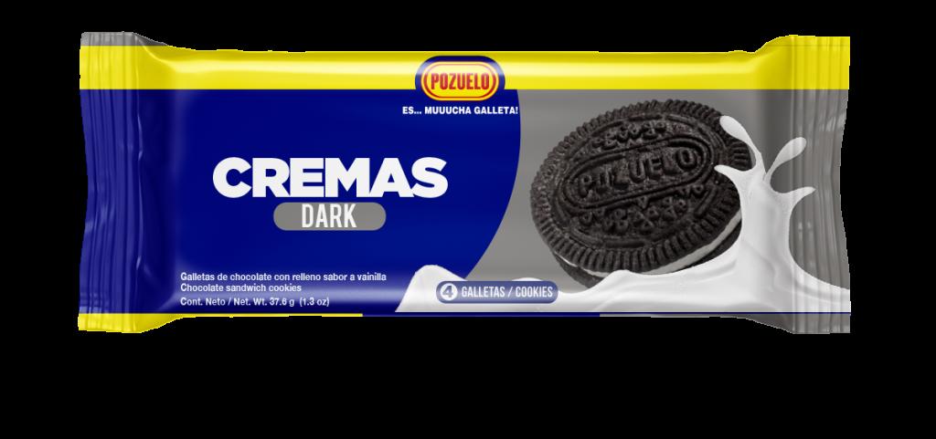 Galleta Pozuelo Crema Dark 12 Paquetitos