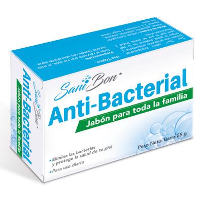 Jabon Antibacterial Sani-Bon Barra 85gr