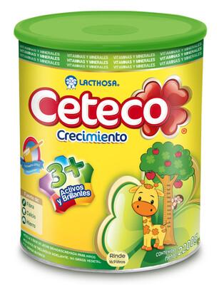 Leche Ceteco Entera en Polvo 3+ Lata 2200 Gramos