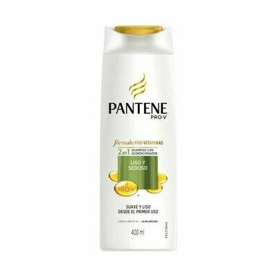 Pantene Shampoo 2en1 Liso Sedoso 400 ml