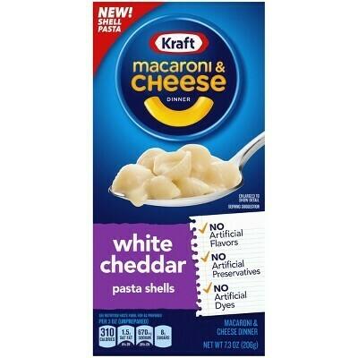 Macaroni & Cheese Kraft Queso Chedar Blanco (Dinner White Cheddar) 7.3 onzas