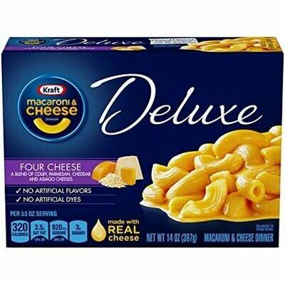 Macaroni & Cheese Kraft Deluxe 4 Quesos (Four Cheese) 14 onzas
