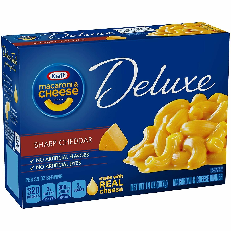 Macaroni & Cheese Kraft Deluxe Queso Chedar Intenso (Sharp Cheddar) 14 onzas