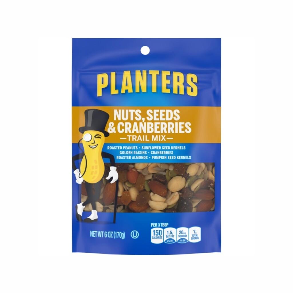 Nueces Mixtas Semillas & Arandano Rojo Planters  (Nuts, Seeds & Cranberry Trail Mix) 6 onzas