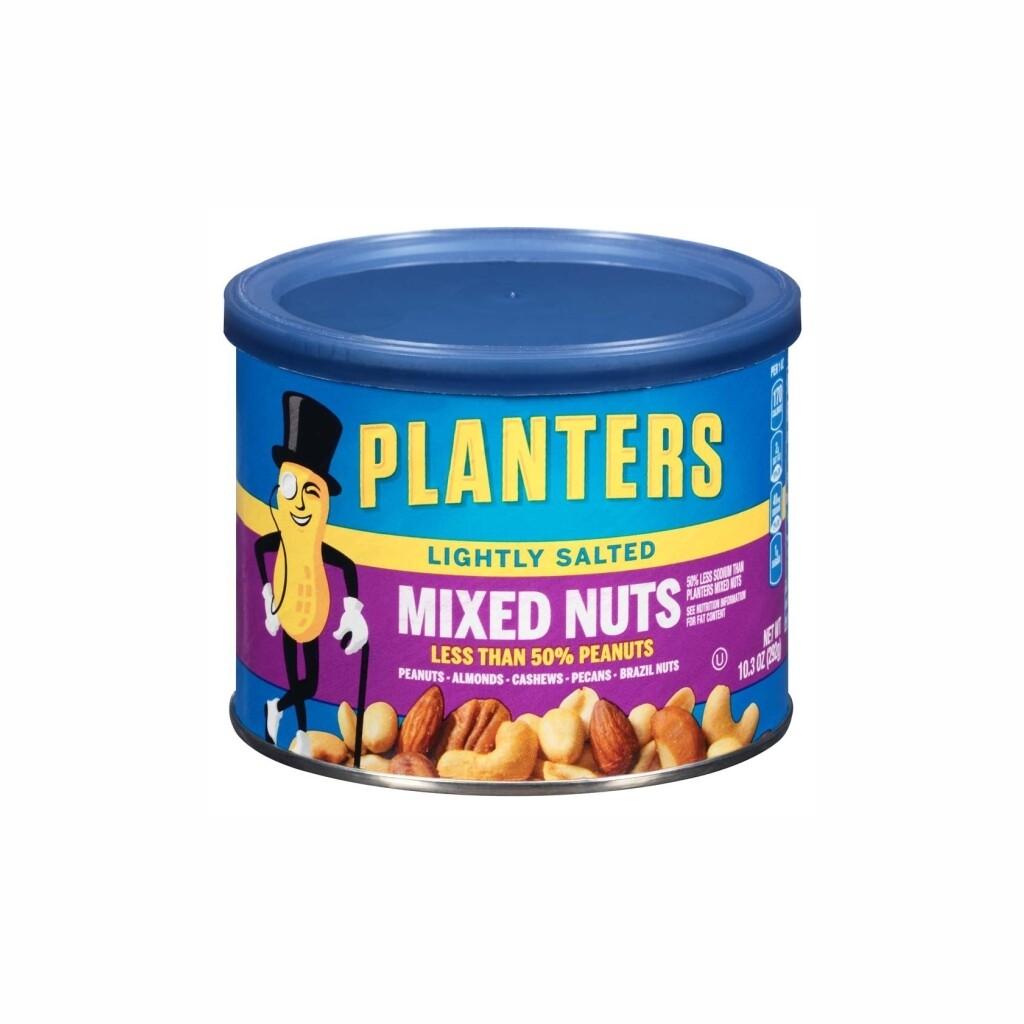 Nueces Mixtas Levemente Salados Planters (Mixed Nuts Lightly Salted) 10.3 onzas.