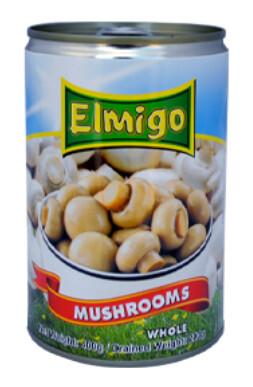 Hongos/ Champiñones Elmigo Enteros 400 Gramos