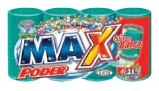Jabon en Barra Max Super Potenciador 450gr  4 Pack