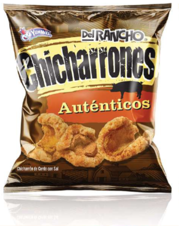 Del Rancho Chicharrón Autentico Tamaño Familiar 100 Gramos