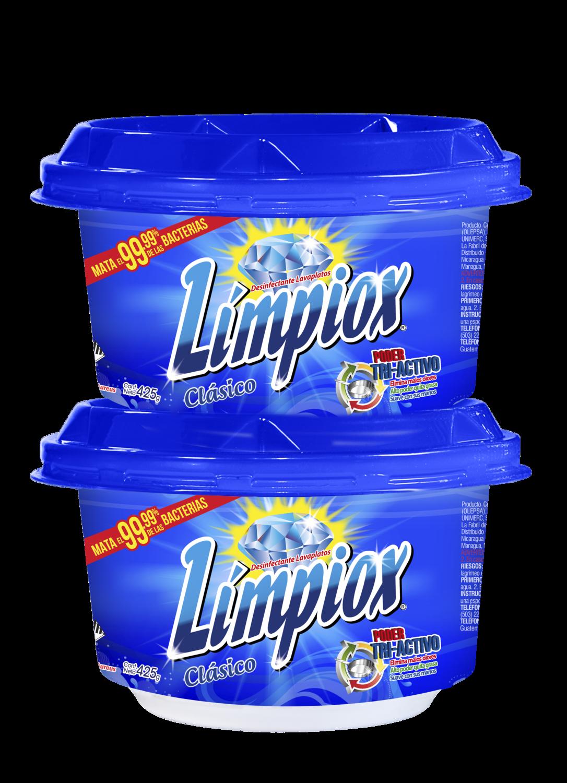 Lavaplatos Limpiox Crema Azul 425 grs 2 Pack