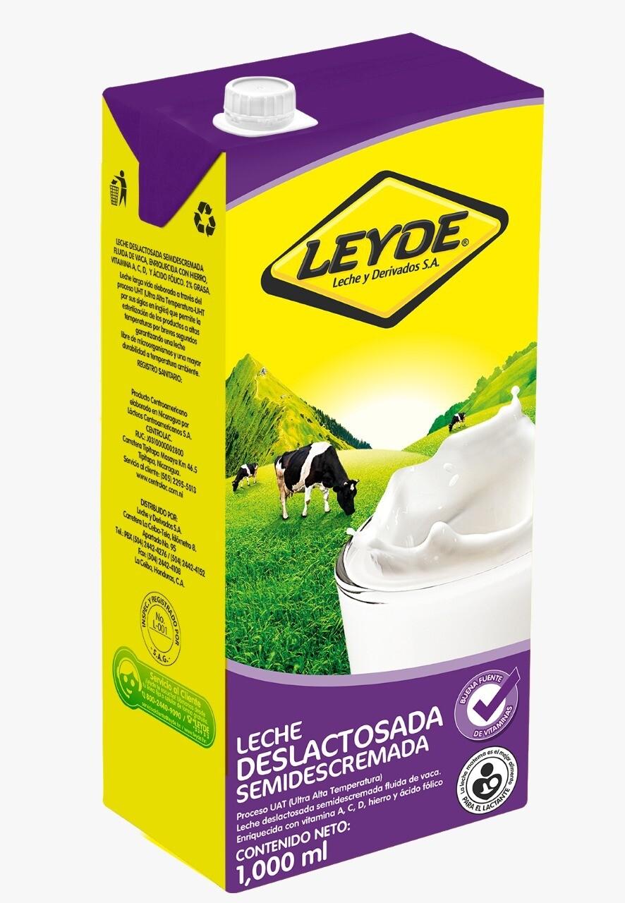 Leche Leyde Deslactosada Semidescremada UHT  946ml