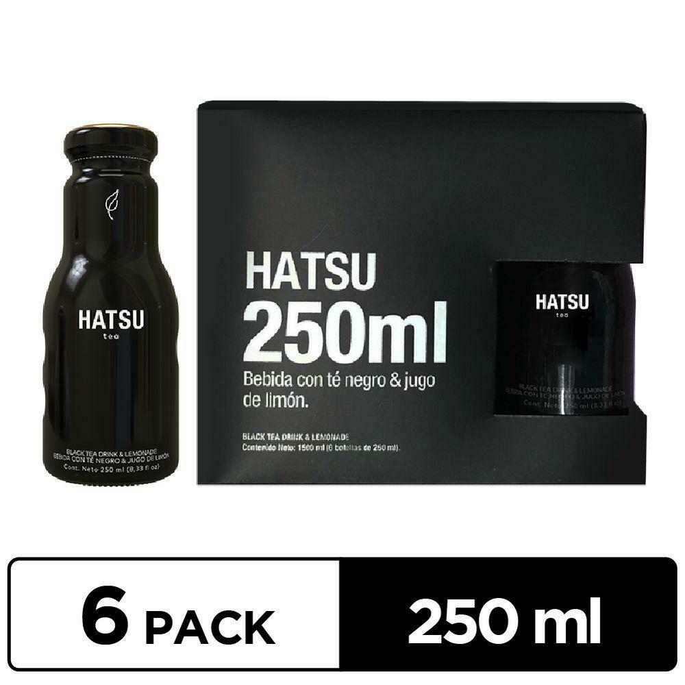 Te Negro y Jugo de Limón HATSU 250ml - 6 Pack