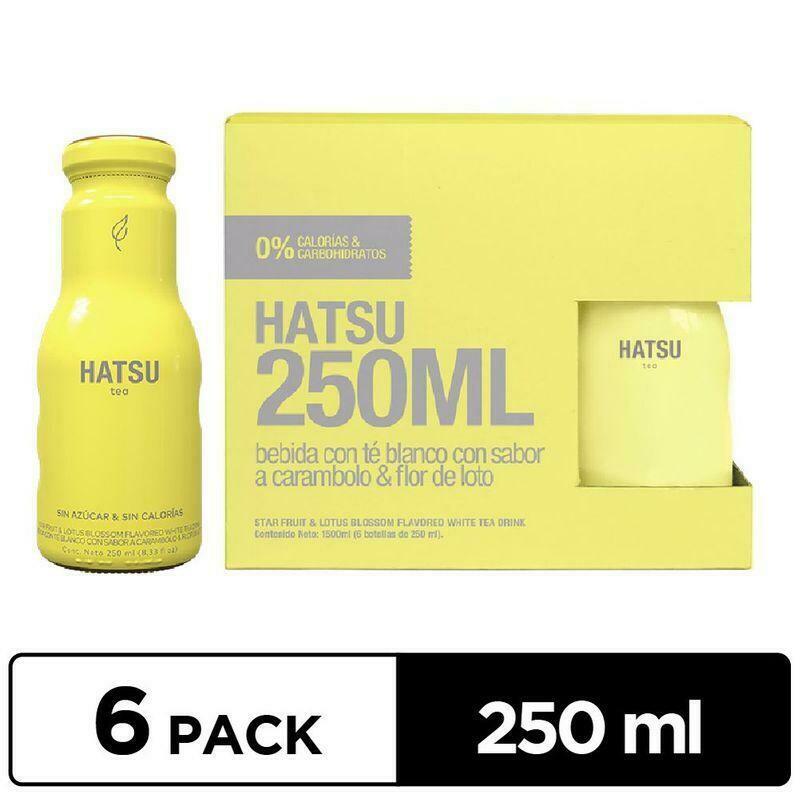 Te Amarillo Carambolo y Flor de Loto HATSU 250ml - 6 Pack