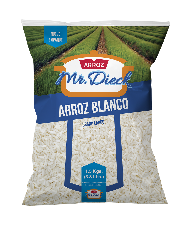 Arroz Mr. Dieck Blanco 1.5 Kg (3.3 Lbs)