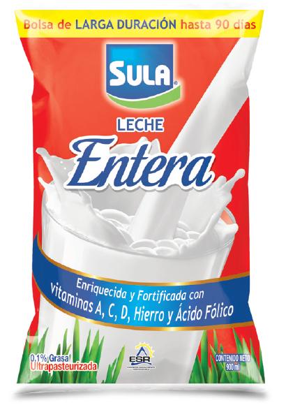 Leche Sula Entera Bolsa Larga Duracion 900ml