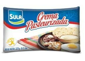 Crema Pasteurizada Sula 1/2 Lb. (227gr)