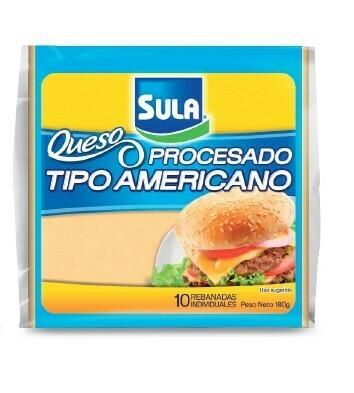Queso Procesado Tipo Americano Sula 10 rebanadas