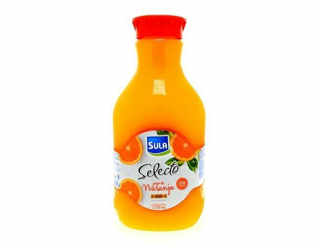 Jugo de naranja Sula selecto con pulpa 1.75 L