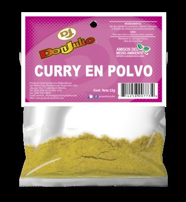Curry en Polvo Don Julio Refill Pack 12gr