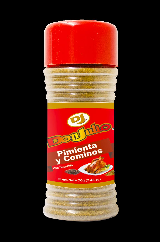 Pimienta y Cominos Bote Don Julio 70gr/ 2.46oz