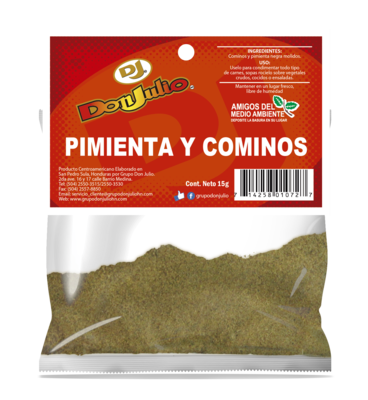 Pimienta y Cominos en Polvo Don Julio Refill Pack 15gr