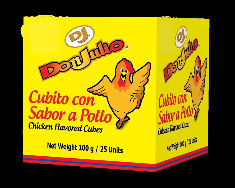 Cubitos de Pollo Don Julio (Cajita 25 unidades)