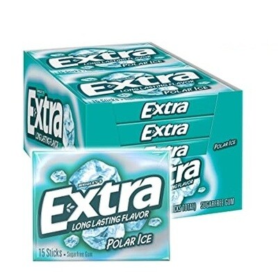 Chicle Wrigley's Extra Polar Ice, Paquete de 5 unidades.