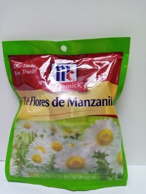 Te Flores de Manzanilla McCormick 10 Bolsitas 1gr