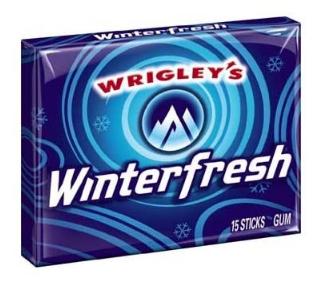 Chicle Wrigley's Winterfresh, Paquete de 10 unidades.
