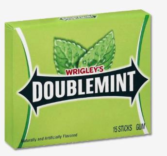 Chicle Wrigley's Doublemint, Paquete de 5 unidades.