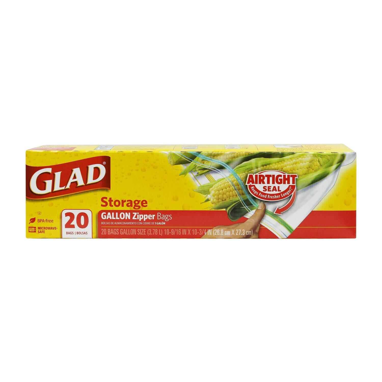 Glad Storage 1 Gallon 20 Bolsas