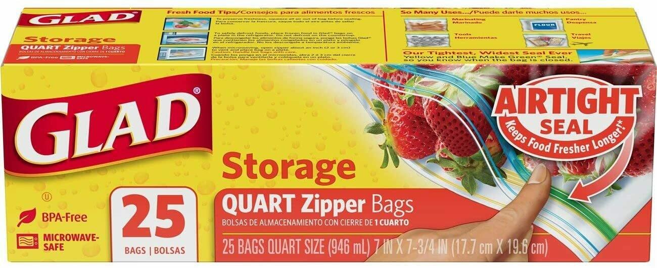 Glad Storage 1/4 Gallon 25 Bolsas