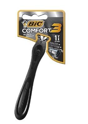 BIC Rasuradora Comfort 3 Black Night Blister 1