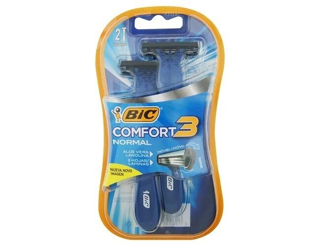 BIC Comfort Rasuradoras 3 Action Blister 2
