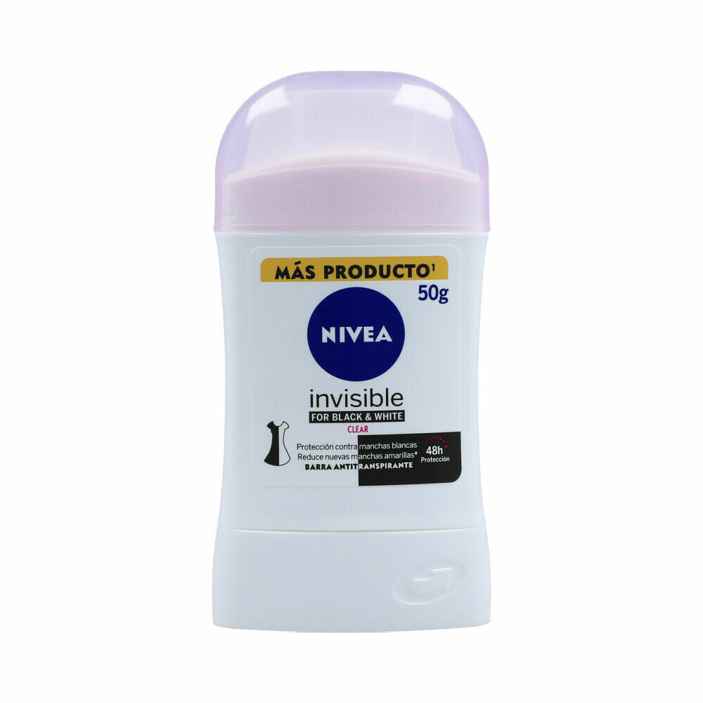 Nivea Desodorante Barra Invisible Clear Fem 50gr
