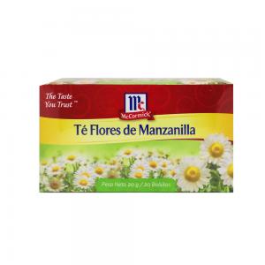 Te Flores de Manzanilla McCormick 100 Bolsitas 1gr