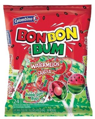 Colombina Bon Bon Bum Sandia, 24 unidades, 312gr