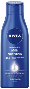 Nivea Crema Body Milk Nutritiva Piel Extra Seca