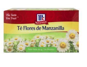 Te Flores de Manzanilla McCormick 20 Bolsitas 1gr