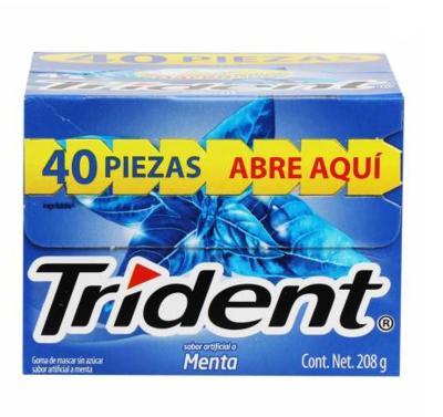Trident  4's Sabor a Menta 40 Unidades